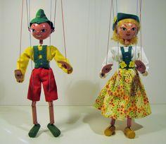 Pelham Puppets TYROLEON BOY & GIRL - restored costumes.