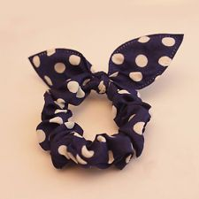 Rabbit Ear Hair Tie Bands Accessories Korean Style Purplish Blue Ponytail Holder