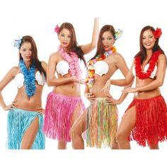 Conjunto o Disfraz de Hawaiana. Disponible en Varios Colores. ¡Elige el tuyo!