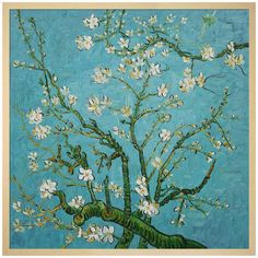 Add museum-worthy style to your walls with this inspiring hand-painted reproduction of Vincent van Gogh's Branches of an Almond Tree in Blossom. ...
