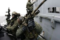Polish GROM in an exercise with Navy SEALs