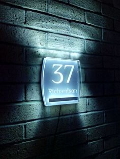 make your house number visible to everyone with the stylish aurora available as plug in