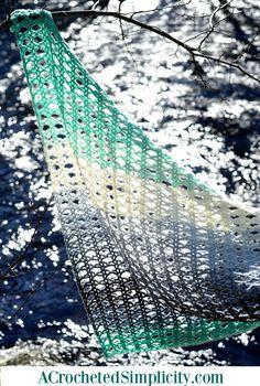 Water's Edge Shawl - Free Crochet Pattern by Jennifer Pionk at A Crocheted Simplicity.