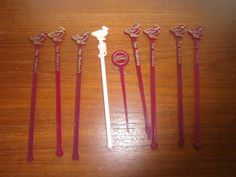 8 PEABODY Restaurant Swizzle Sticks Drink Stirrers SPIR-IT USA Duck End +Pick