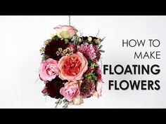 How to an make elegant but straightforward floating flower #arrangement. First, make a flower selection in beautiful colors. In the video, Desiree details precisely how this flower arrangement is made.