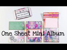 *DIY* One Sheet Mini Album [tutorial   deutsch] - YouTube