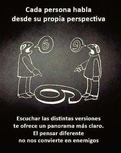 Hablar desde su propia perspectiva