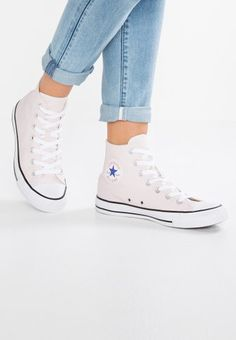 8fdabddc3ad CHUCK TAYLOR ALL STAR BIG EYELETS - Baskets montantes - pure platinum light  carbon white