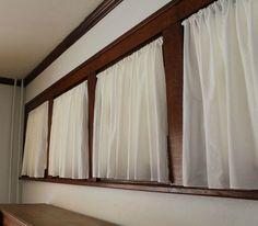 ы 15 дизайнерские хитрости, чтобы попасть на pinterest достойным штор, домашнего декора, шторы, сделать несколько кафе шторы из кухонных полотенец