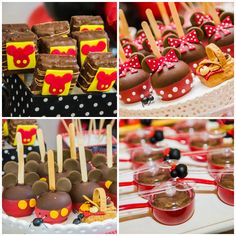 Doces decorados de Mickey e Minnie - Foto Katia Rocha