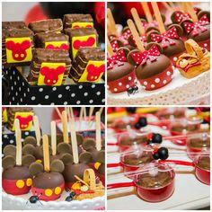 Doces decorados de Mickey e Minnie - Foto Katia Rocha