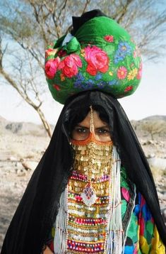 Woman in the south Sinai region, Egypt .