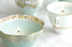 candles in teacups - Google Search
