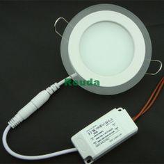 Round 12w led panel lighting AC85-265V ,SMD2835 Alumium Warm /Cool whiteindoor lighting led ceiling light 3years warranty