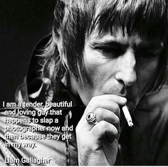 One solution I suppose! #quote #liamgallagher