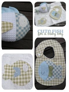 baby boy gift set - (not a tutorial, just a link to Flickr)