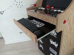 Arcade Bartop, Video Game Storage, Pin Maritime, Arcade Machine, Vintage Diy, Electronics Projects, Pinball, Built Ins, Arcade Games
