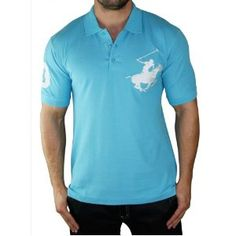 Click on the image for more details! - BEVERLY HILLS POLO CLUB Big Pony Cotton Polo Mens Shirt (Apparel)
