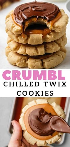 Soft Sugar Cookies, Yummy Cookies, Yummy Treats, Delicious Desserts, Baking Recipes, Cookie Recipes, Dessert Recipes, Twix Cookies, Chocolate Chip Cookies