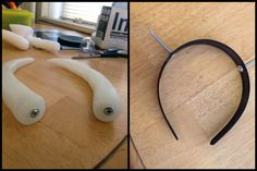 Homestuck fans! The following tutorial is re-posted (with permission) from Mage W's blog. It's all about how to make a hidden headback troll horn attachment. This is a follow-up to her horn molding tutorial, which is also very good. You can find all her awesome and helpful stuff over at...