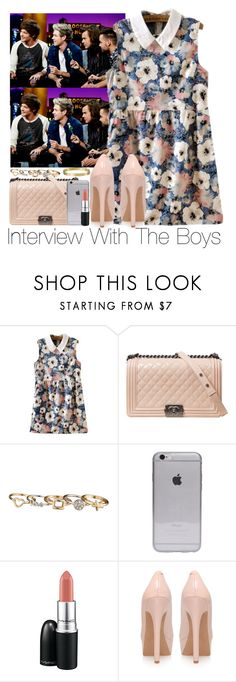 """""""Interview With The Boys"""" by zarryalmighty ❤ liked on Polyvore featuring Chanel, maurices, MAC Cosmetics, Jessica Simpson, Cartier, OneDirection and onedirectionoutfits"""