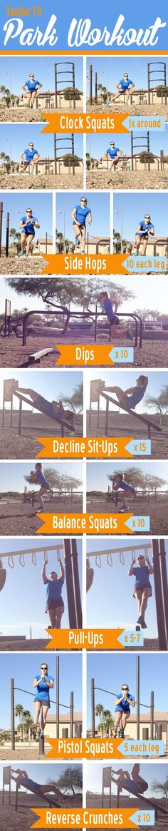 get your park workout in while the weather is still nice! Tabata Workouts, At Home Workouts, Summer Workouts, Outdoor Gym, Outdoor Workouts, Wellness Fitness, Health Fitness, Stroller Workout, Park Workout