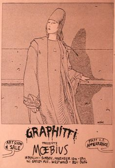 moebius's first us show flyer