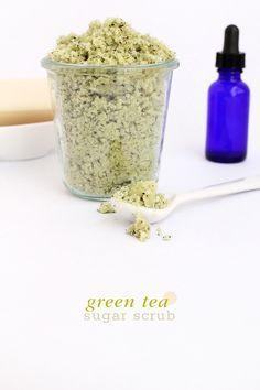 green tea sugar body scrub - DIY tutorial