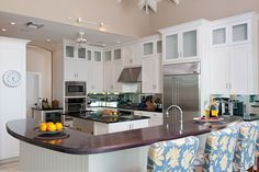 this is a good idea for a kitchen that might have that weird, unused space above the present cabinets.
