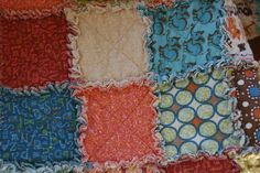 "crazy mom quilts: crazy mom quilts: one way to make a ragtime quilt. Posted by Co-author of Sunday Morning Quilts. A little tutorial on how to make a ragtime quilt.This is not the only way to make it, it is just one way to make it. Quilt finishes at about 40"" x 60"". Fabric is a fun line of flannels by Connecting Threads called Wild Ones. I used 27 fat quarters. I did not pre-wash my fabrics. http://www.crazymomquilts.blogspot.com/2012/02/crazy-mom-quilts-one-way-to-make.html"