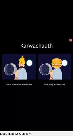Karvachauth: expectation vs reality Funny Cartoons, Funny Jokes, Hilarious, Desi Problems, Laughing Colors, Punjabi Jokes, Rebel Quotes, Society Quotes, Funky Quotes