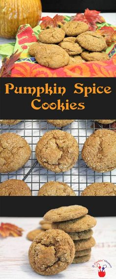 Pumpkin-Spice-Cookies | 2 Cookin Mamas A soft & chewy cookie that's a cross between gingerbread and everything you love about pumpkin pie. It's like a mouthful of fall! #recipe #dessert