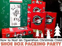How to Host an Operation Christmas Child Shoe Box Packing Party - Keeper of the Home