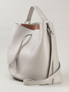 ad4c4fb140 Maison Margiela Medium Bucket Bag White Leather