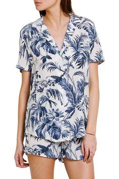 Keira printed washed-silk pajama shirt | Equipment | AU | THE OUTNET
