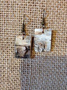 Birch bark earrings                                                                                                                                                                                 More