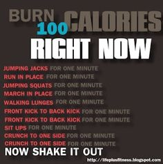 Cool! I don't know if this technically burns 100 cals, but they all sound pretty legit. Also a great way to get some quick cardio and heart pump when it's too cold for a run with the baby.