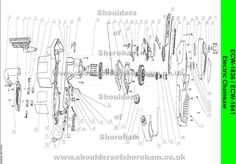 Ryobi ECW 1836 Electric chain saw spares diagram