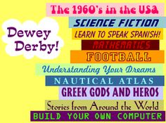 Love the graphic description of Dewey asking his questions. (click the icon in the top left. School Library Lessons, Library Lesson Plans, Middle School Libraries, Library Skills, Elementary Library, Library Science, Library Activities, Library Games, Reading Library