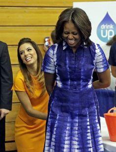 Michelle in 'Adire' tie dye dress