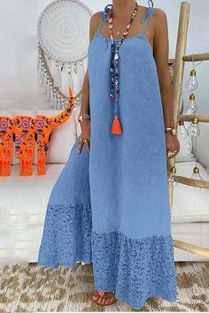 Casual Pure Colour Bare Back Loose Dress - #dresses #fashion #whatiwore #ebuystudio