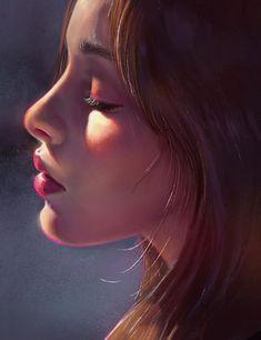 Digital Art Girl, Digital Portrait, Portrait Art, Girly Drawings, Art Drawings Sketches, Aesthetic Art, Cartoon Art, Amazing Art, Fantasy Art