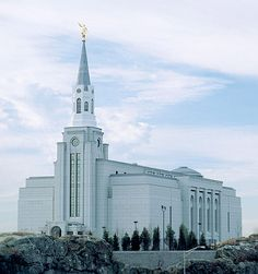 The Boston LDS Temple (visited temple grounds January 2005)