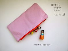 mama says sew: Lined Zipper Pouch Tutorial