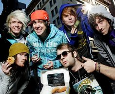 Forever The Sickest Kids. And the white-blonde on the far left has the sickest hair ever O.o