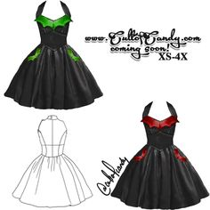 The Batty Bettie Dress This design is coming soon to CultofCandy.com!   OMG I love this!!!!!