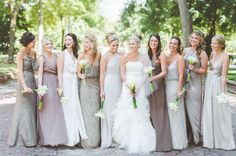those bridesmaids dresses are to die for Neutral Bridesmaid Dresses, Wedding Bridesmaids, Wedding Dresses, Norwegian Wedding, And So It Begins, Country Club Wedding, Wedding Paper, Dream Wedding, Wedding Photography