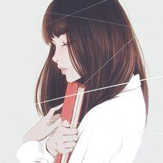 Imagem de girl, art, and book » hair flow » art » drawing » inspiration » illustration » artsy » sketch » pinterest » design » expression » faces »