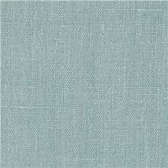 European Linen Fabric Mosaic Blue