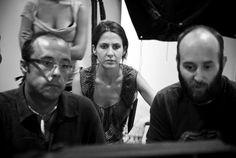 Momento del rodaje del cortometraje CAMAS, junto al director de Fotografía Jon Corcuera.